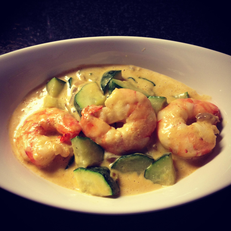 recette curry de courgettes et crevettes pal 233 o r 233 gime