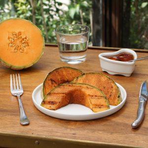 Melon grillé au Miel