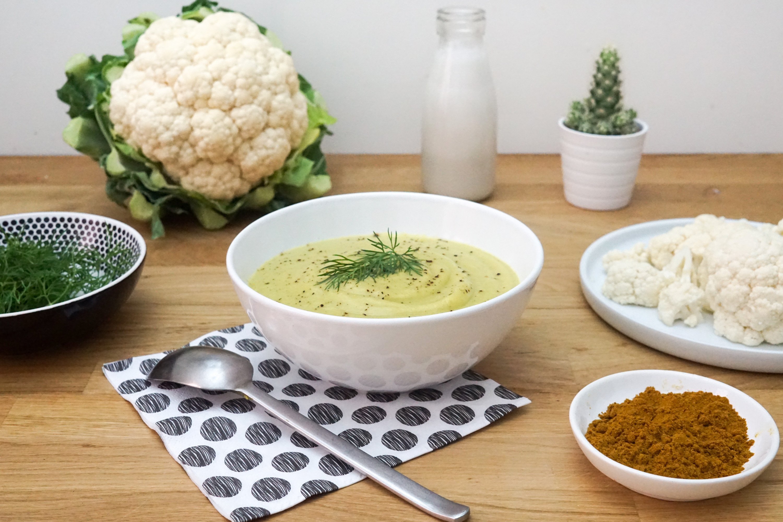 Cr me de chou fleur au lait de coco et curry pal o r gime - Lait de coco bjorg ...