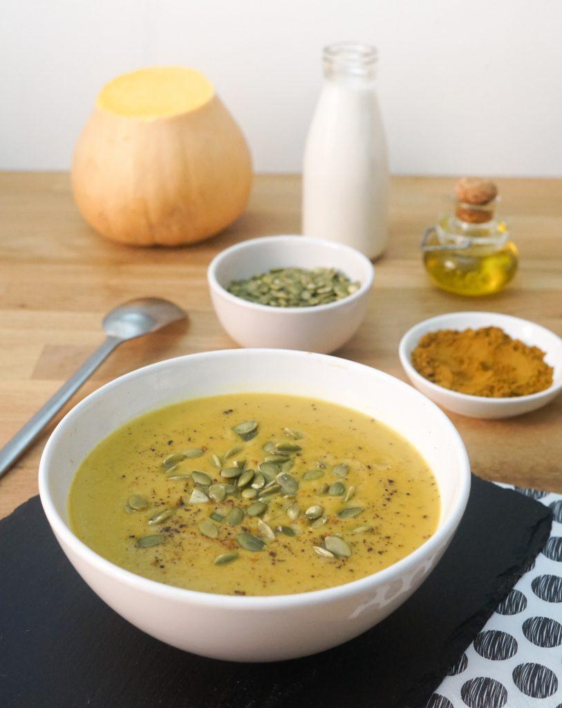 Soupe de Courge Butternut aux Marrons