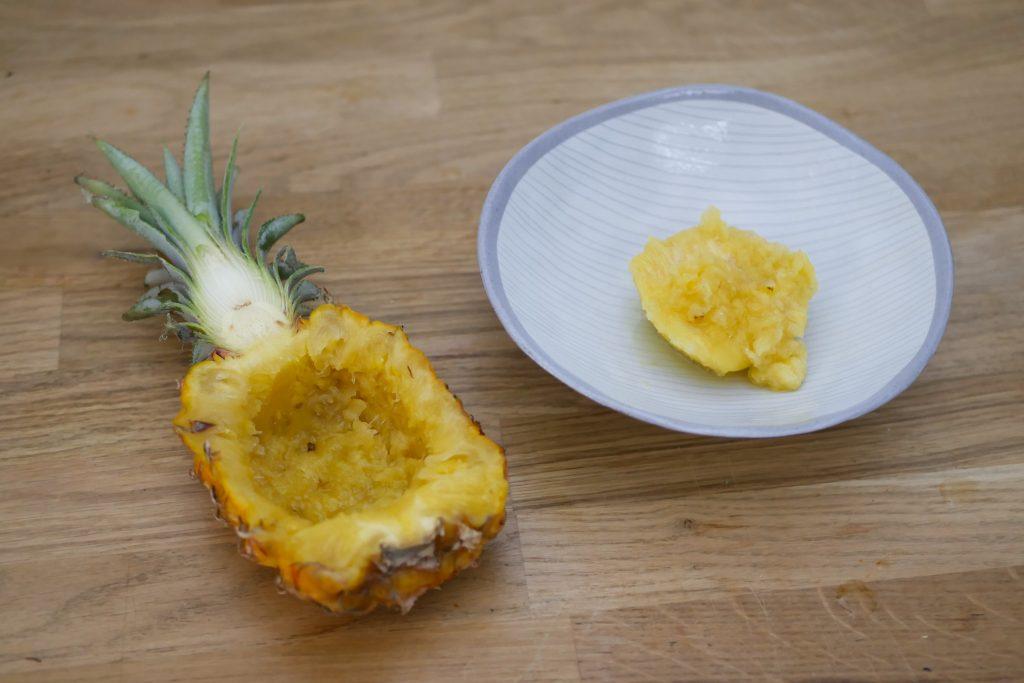 Vider les demi-Ananas