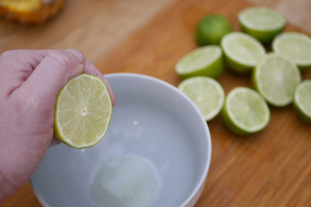 Presser les citrons verts