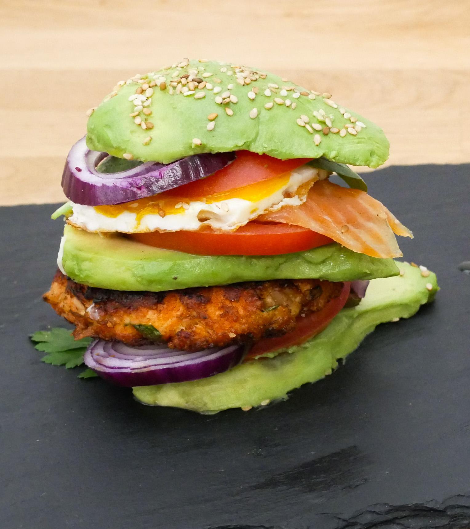 Préférence Double Avocado Burger au Saumon • Paléo Régime QP46