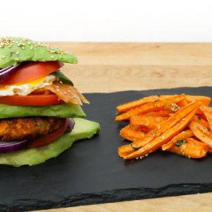 Double Avocado Burger aux Deux Saumons